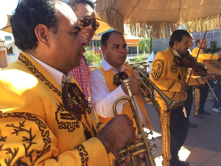 A mariachi band serenading our guests in Tijuana